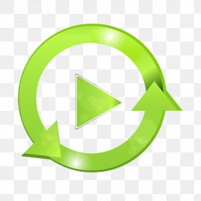 Green Play Button Round - Button Download PNG
