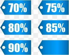 Blue Discount Tags Set Part 3 Transparent Image - Discounting Coupon Price Discount Shop PNG