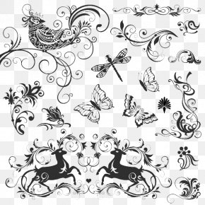 Insect Vector Pattern - Calligraphy Royalty-free Illustration PNG