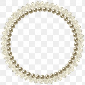 Pearl Circle - Pearl Picture Frame PNG