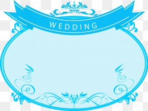 Blue Pattern Wedding Logo - Wedding Download Clip Art PNG