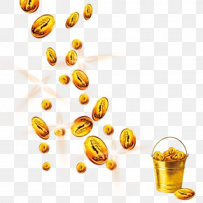 A Bucket Of Coins - Gold Coin Barrel PNG