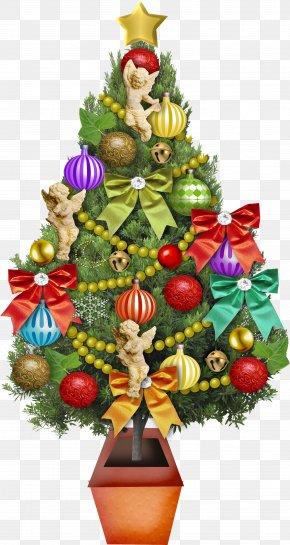 Christmas Tree - Christmas Tree Christmas Ornament Santa Claus PNG