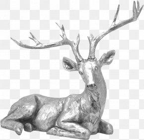 Metal Sculpture Deer - Formosan Sika Deer Sculpture PNG