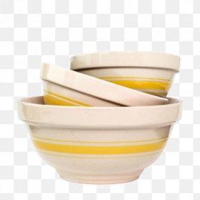 Yellow Stripe Decorative Ceramic Sand Bowl Tableware - Bowl Ceramic Tableware Kitchen Plate PNG