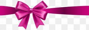 Pink Bow Transparent Clip Art - Pink Ribbon Clip Art PNG