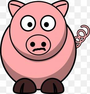 Pig - Piglet Pig Roast Cartoon Clip Art PNG