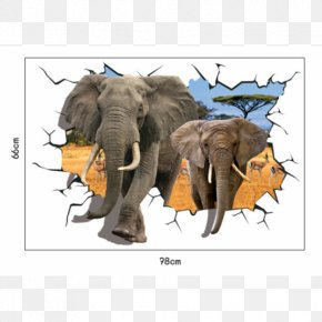 Painting - Wall Decal Elephantidae Sticker Painting PNG