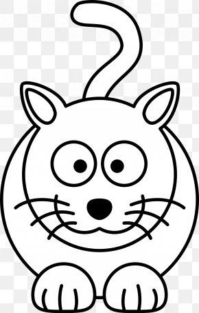 Bib Cliparts - Cat Kitten Black And White Cartoon Clip Art PNG