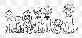 A Pack Of Dogs - Finger Homo Sapiens Line Art Human Behavior Sketch PNG