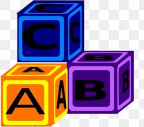 Abc Blocks Clipart - Toy Block Free Content Letter Clip Art PNG