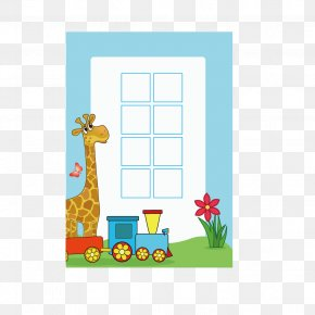 Giraffe Cartoon Form - Picture Frame Child Photography PNG