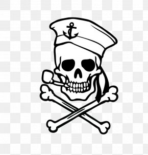 Skeleton Soldier - Skull And Crossbones Decal Sticker PNG
