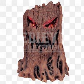 Tree Stump - Tree Stump Fireplace Mask Halloween PNG