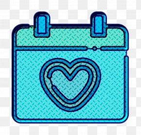 Electric Blue Aqua - Heart Icon Love Icon Marriage Icon PNG