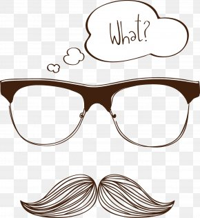 Vector Beard Glasses - Glasses Drawing Moustache PNG