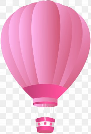 Pink Air Balloon Clip Art Image - Hot Air Balloon Pink Clip Art PNG