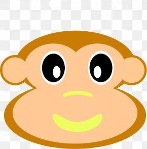 Monkey Clipart - Snout Nose Cartoon Mammal Clip Art PNG
