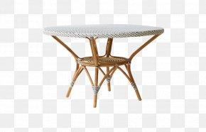 Rattan - Table Garden Furniture Rattan Matbord PNG