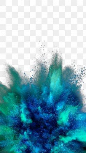 Blue Powder - IPhone 6 Plus IPhone 5 IPhone 6S Black Wallpaper PNG