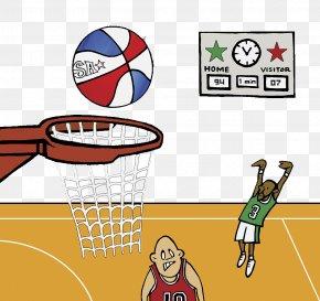 Scoreboard For Cartoon Basketball Game - Basketball Court Cartoon Animation Clip Art PNG