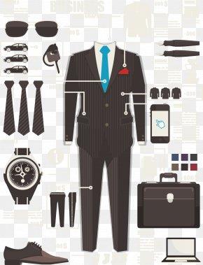 Vector Painted Suit - Tuxedo Suit PNG