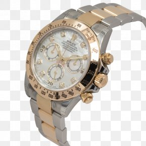Mother Pearl Oyster - Rolex Daytona Watch Strap Diamond Colored Gold PNG