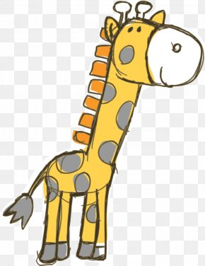 Hand-painted Giraffe - Wedding Invitation Giraffe Baby Shower PNG