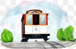 Vector Train - Golden Gate Bridge San Francisco Cable Car System Palace Of Fine Arts Theatre Tram PNG