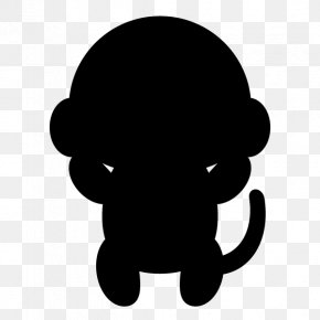 Silhouette - Silhouette Monkey Clip Art PNG