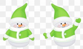 Transparent Cute Green Santa Claus Decor Clipart - Christmas Eve Holiday Nativity Of Jesus Tradition PNG