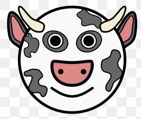 Cow Head - Holstein Friesian Cattle Cartoon Clip Art PNG