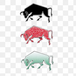 Three Bulls - Cattle Euclidean Vector Bull Illustration PNG