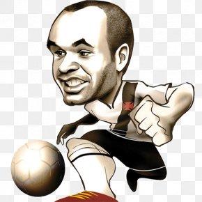 Football - Caricature Cartoon Drawing Andrés Iniesta Argentina National Football Team PNG