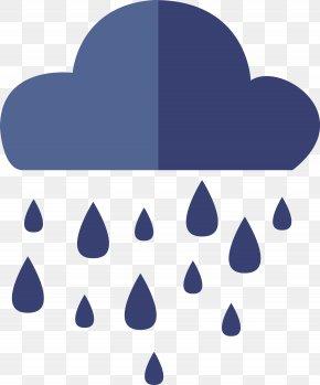 Flat Vector Rain Icon PNG