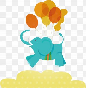 Blue Flying Elephant - Hathi Jr. Elephant Euclidean Vector Illustration PNG