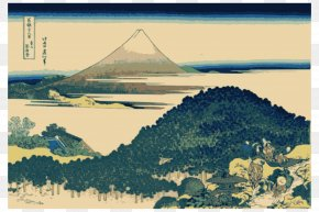 Mount Fuji - Historic Eruptions Of Mount Fuji Fine Wind, Clear Morning The Great Wave Off Kanagawa Thirty-six Views Of Mount Fuji PNG