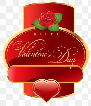 Happy Valentines Day Label PNG Clipart Picture - Valentine's Day Gift Clip Art PNG