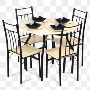 Dining Set Table With 4 Chairs Carmen - Table Chair Furniture Dining Room Matbord PNG