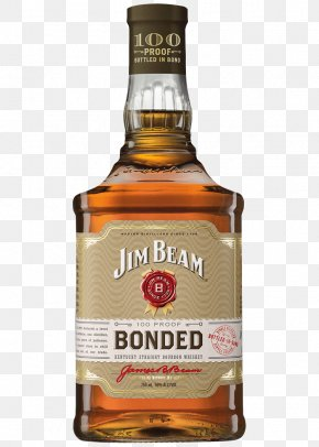 Whiskey - Bourbon Whiskey American Whiskey Distilled Beverage Jim Beam Black Label PNG