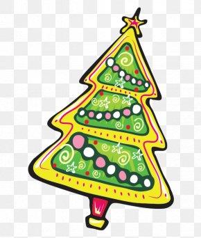 Vector Cartoon Christmas Tree - Christmas Tree New Year Tree Clip Art PNG