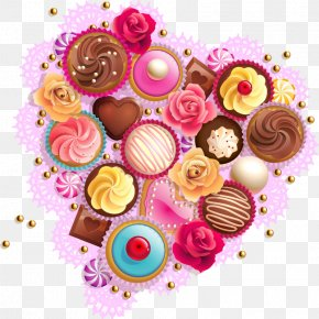 Chocolate Cake - Bonbon Cupcake Muffin Sweetness Chocolate Cake PNG