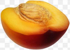 Half Peach Transparent Clip Art - Fruit Clip Art PNG