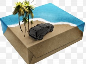 Cars On The Box - Paper Box Packaging And Labeling Creativity PNG