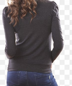 Black Slim Casual Wear Women's Back - Jeans Pocket Casual Woman Stock Photography PNG