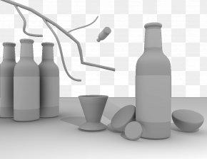 Glass Bottle Model - Glass Bottle Alcoholic Beverage PNG