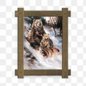 Indian National Wind - Picture Frames Art Bear Watercolor Painting PNG