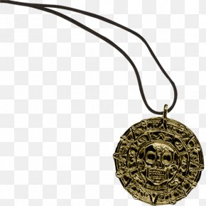 Coin - Piracy Coin Necklace Pirates Of The Caribbean Medal PNG