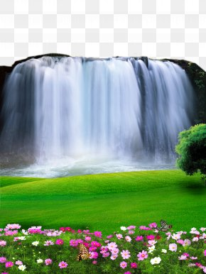 2017 Waterfall Landscape Material PNG