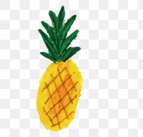 Hand Drawn Card Love Pineapple - Drawing Watercolor Painting Illustrator Illustration PNG